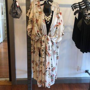 L Love Floral Kimono